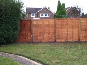 6 x 6 Lap Panel Garden Fencing