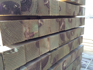 Timber Fence Posts Picture